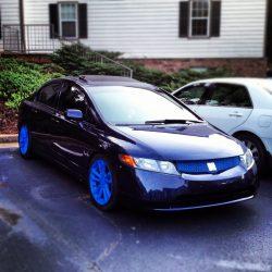 Plasti Dip blaze blue grill & wheels