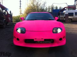 Plasti dip blaze pink car