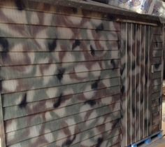 plastidip camo garden shed