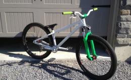 plastidip white green bike