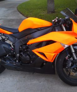 motorcycle blaze orange