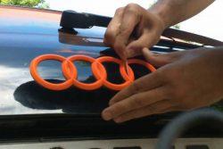 Plastidip blaze orange badge
